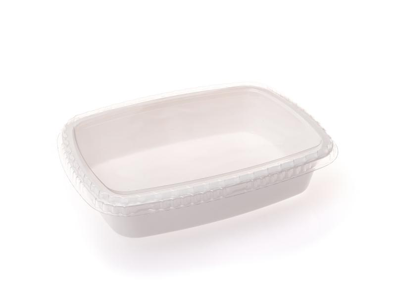 White plastic tray oval 1350g-2050g