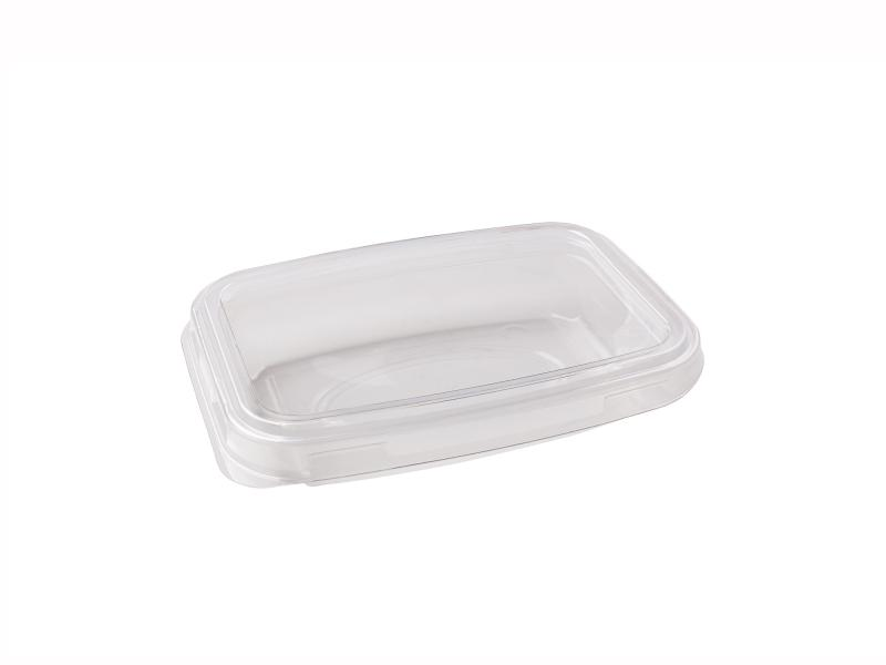 Transparent plastic tray rectangular 150g-250g