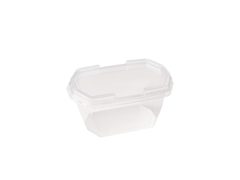 Transparent plastic tray octagon big 230g-400g