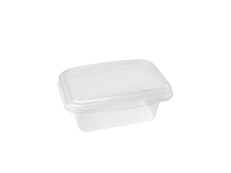 Transparent plastic tray rectangular 350g-550g