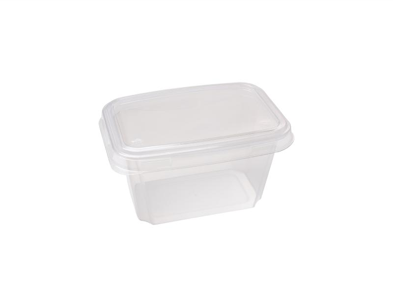 Transparent plastic tray rectangular 500g-800g