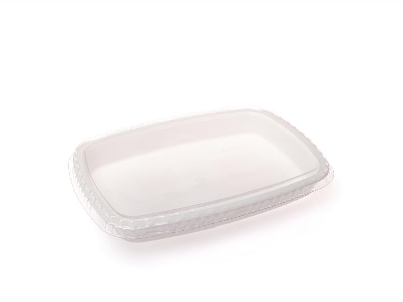 White plastic tray oval 750g-1050g