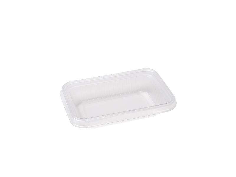 Transparent plastic tray rectangular 90g-150g