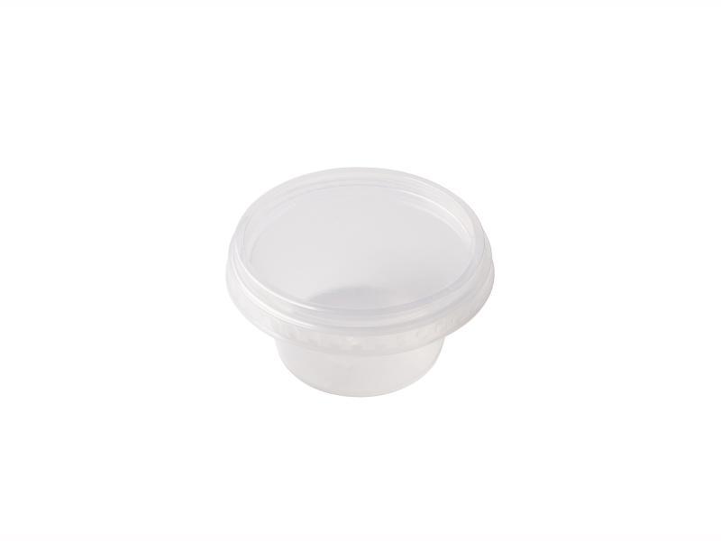 Transparent Round plastic tray 110g-200g