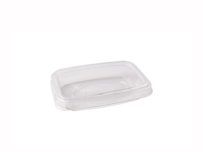 Transparent plastic tray rectangular 110g-200g
