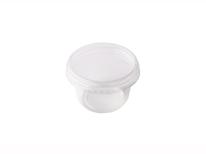 Transparent Round plastic tray 150g-250g