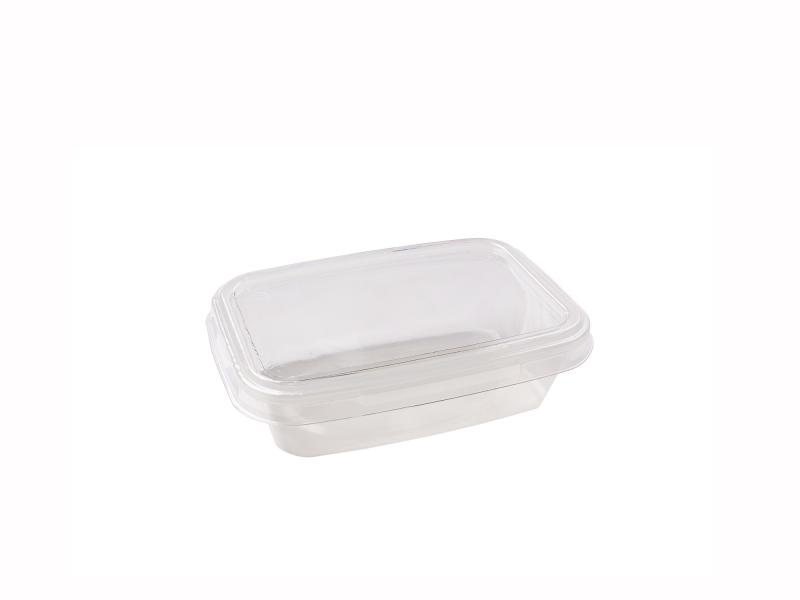 Transparent plastic tray rectangular 230g-400g