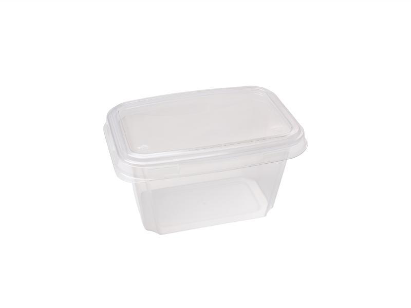 Transparent plastic tray rectangular 500g-800g