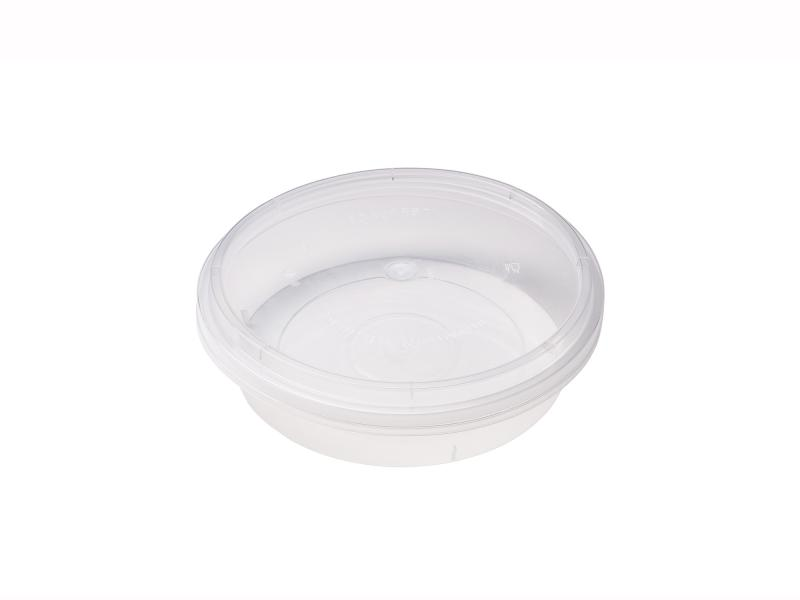 Transparent Round plastic tray 600g-1000g