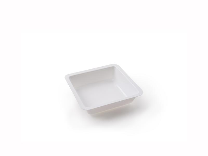 White square plastic tray 60g-120g