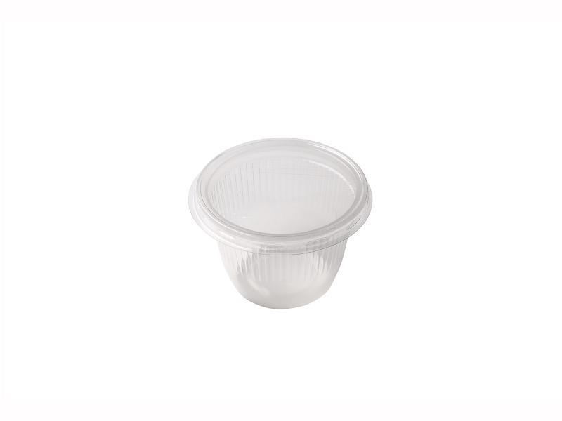 Transparent Round plastic tray 90g-150g